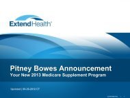 Pitney Bowes Announcement - Extend Health