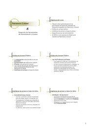 Desarrollo de herramientas de administración y acceso