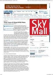 Three Years Of Retail RFID ... - WA-Mozart Consulting