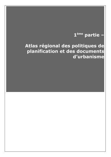 Atlas régional des politiques de planification et les DU