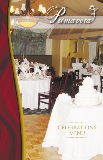 CELEBRATIONS MENU - Primavera