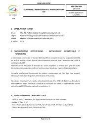 PROFIL DE POSTE PRP-GRH-XXX Version 6 RESPONSABLE ...