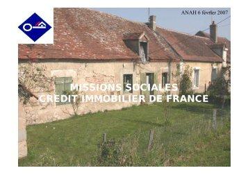 missions sociales credit immobilier de france - DREAL Poitou ...