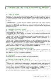 Note de lecture fiche descriptive - DREAL Poitou-Charentes