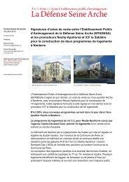 Signatures d'actes de vente entre l'Etablissement Public ... - Epadesa