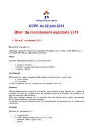 Bilan du recrutement expatriés 2011 - SNUipp