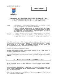 Compte rendu du Conseil municipal du 5 ... - Ville de Chaville