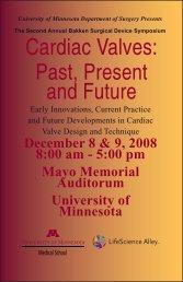 Cardiac Valves - Surgery Department - University of Minnesota