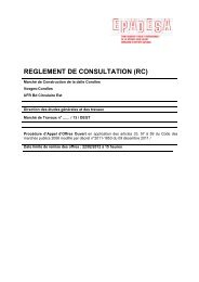 REGLEMENT DE CONSULTATION (RC) - Epadesa