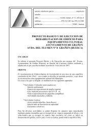 PROYECTO BASICO Y DE EJECUCION DE ... - Grañén
