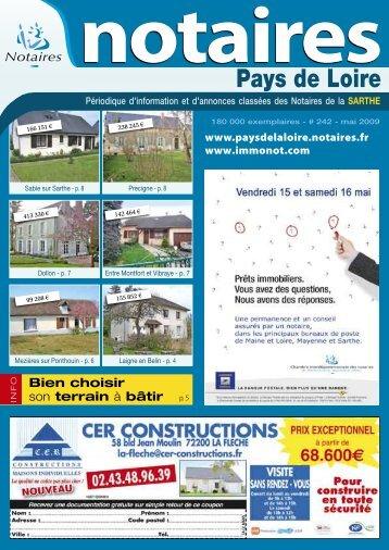 """Journal des Notaires """"Notaires de la Sarthe"""" - Le Journal des Notaires"""