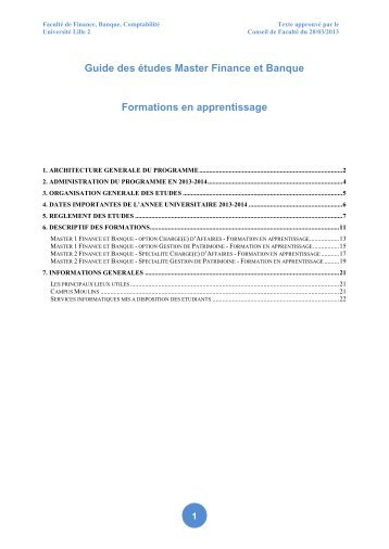 Télécharger le Guide des études Master Finance et Banque ...