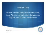 2013 Section 13c Convention Training - Amalgamated Transit Union