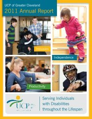 2011 Annual Report - United Cerebral Palsy of Greater Cleveland