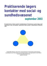 Praktiserende lægers kontakter med social- og ... - APO Danmark