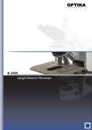 Optika B1000 Brochure (16 MB) - Bioimager