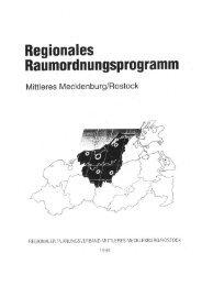 Regionales Raumordnungsprogramm Mittleres Mecklenburg/Rostock