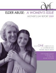 elder abuse: a women's issue - OWL-National Older Women's League