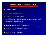 NEUROBIOLOGY OF NORMAL AGING A) Aging genes ... - canr