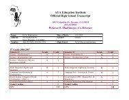 AYA Education Institute Official High School Transcript Wekesa O ...