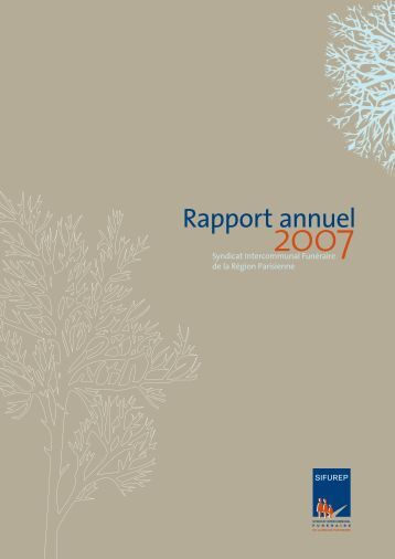 Rapport annuel 2007 - Sifurep