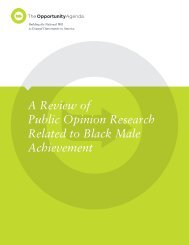 Public Opinion Research - The Opportunity Agenda
