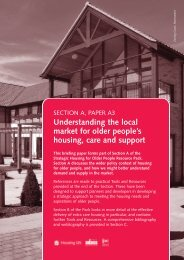 Understanding the local market for older people's housing, care and ...