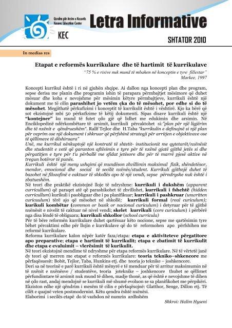 SHTATOR 2010 - Qendra për Arsim e Kosovës