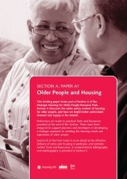 Paper 1: Older People and Housing - Institute of Public Care