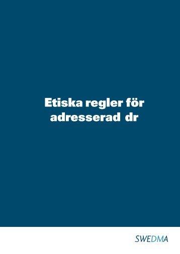 Etiska regler för adresserad direktreklam (ADR) - Swedma