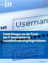 Entwicklungen aus der Praxis – wie IT-Innovationen im - PVS Verband