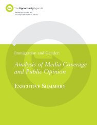 Analysis of Media Coverage and Public Opinion - The Opportunity ...