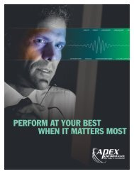 PERFORM AT YOUR BEST WHEN IT MATTERS MOST - Apex ...