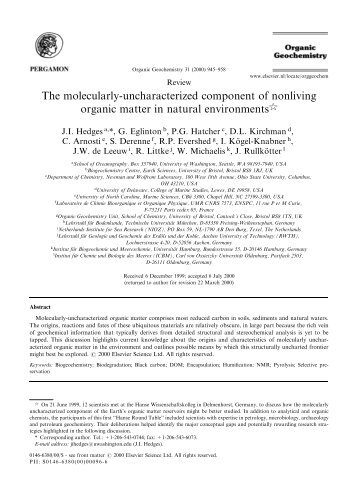 The molecularly-uncharacterized component of ... - Directory UMM