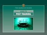 Guide To Post Training - American Legion