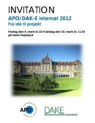 INVITATION - APO Danmark