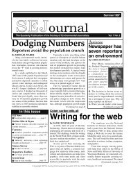 SEJournal - Society of Environmental Journalists