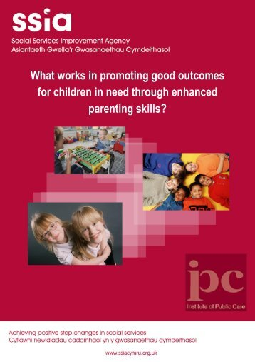 What works in promoting good outcomes for children in need ...