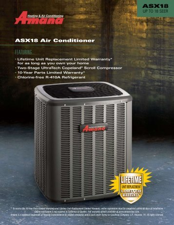 Amana ASX18 SEER - from Armbrust Plumbing Heating and Air ...