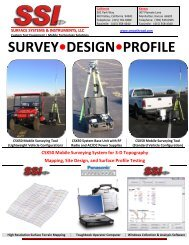 CSX750 Mobile Surveying - Surface Systems & Instruments, Inc.
