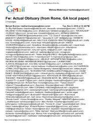 Gmail - Fw: Actual Obituary (from Rome, GA local paper)