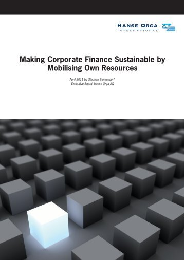 Making Corporate Finance Sustainable by ... - Hanse Orga AG