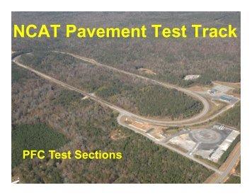 NCAT Pavement Test Track - pavetrack