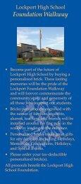 LHS Foundation Walkway Order Form - Lockport City School District