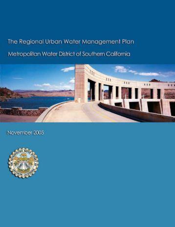 Metropolitan Water District of So Cal 2005 Regional UWMP