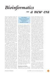 Bioinformatics – a new era - Mark S. Boguski