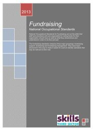 National Occupational Standards for Fundraising - Skills - Third Sector