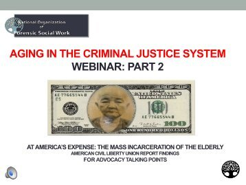 aging in the criminal justice system webinar: part 2 - National ...