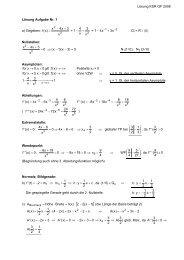 Lösung KSR GF 2008 Lösung Aufgabe Nr. 1 a ... - Mathematik.ch