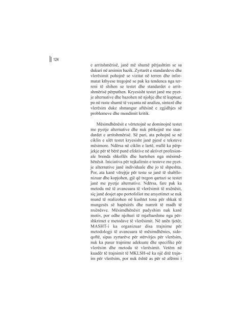 arsimi bazik cilësor në funksion të zhvillimit njerëzor - Qendra për ...